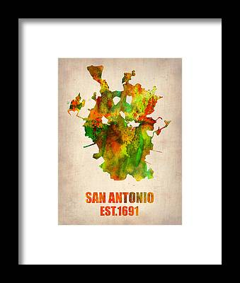 San Antonio Framed Prints