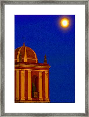 San Bartolome Moonlight Framed Print by Robin Graham