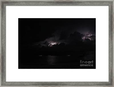 San Blas Lightning Show Framed Print by Bob Hislop