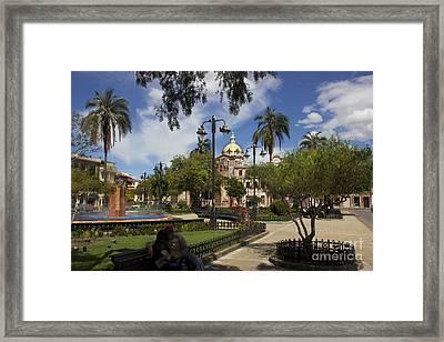 San Blas Park  Cuenca Ecuador Framed Print