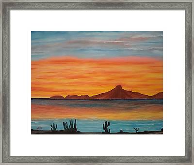 San Carlos Bay Mexico Framed Print by Jorge Cristopulos