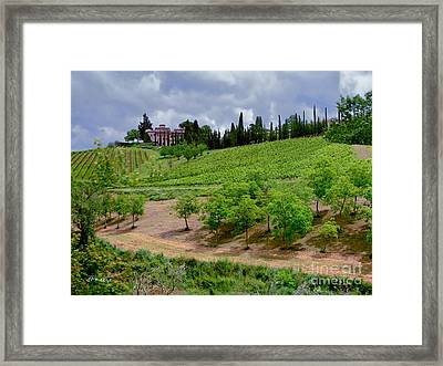 San Casciano In Val Di Pesa- Italy Framed Print by Jennie Breeze