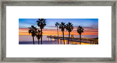 San Clemente Pier Framed Print by Radek Hofman