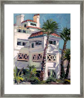San Clemente Facade Framed Print by Mark Lunde