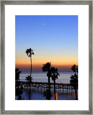 San Clemente Moonlight Framed Print by Richard Stout