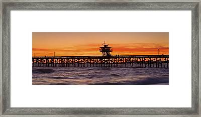 San Clemente Municipal Pier In Sunset Framed Print