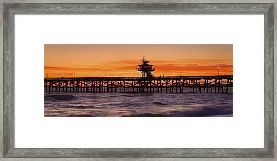 San Clemente Municipal Pier In Sunset Framed Print by Richard Cummins