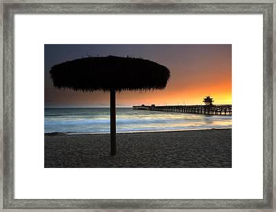 San Clemente Pier Framed Print by Eric Foltz