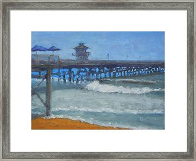 San Clemente Pier Framed Print by Kent Pace
