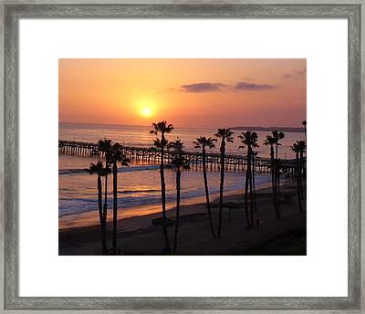 San Clemente Pier Framed Print by Kristy  Morris