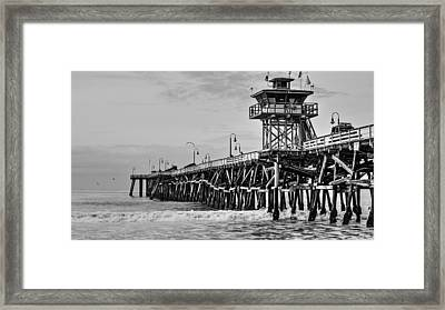 San Clemente Pier Framed Print by Richard Cheski