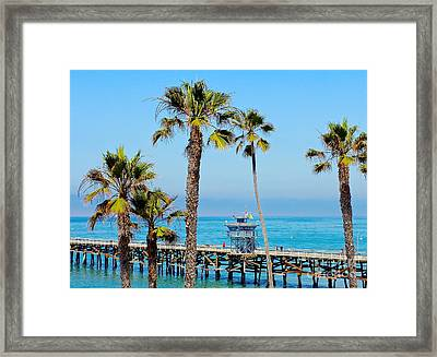 San Clemente Pier Framed Print by Suzanne Oesterling