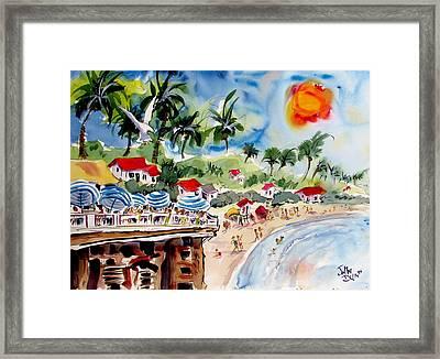 San Clemente Pier View Framed Print