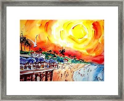San Clemente Sun Framed Print