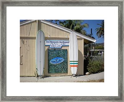 San Clemente Surfboards Framed Print