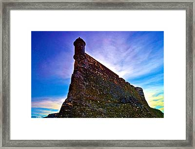 Framed Print featuring the photograph San Cristobal Sentry by Ricardo J Ruiz de Porras