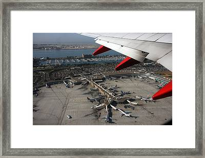 San Diego Airport Plane Wheel Framed Print