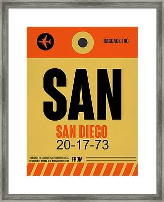San Diego Airport Poster 1 Framed Print
