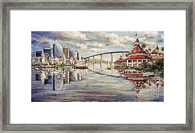 San Diego And Coronado Heritage Framed Print