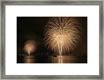 San Diego Bay Fireworks Framed Print