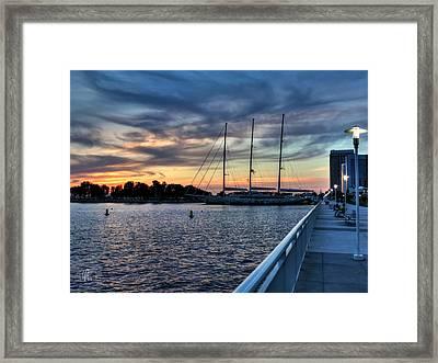 San Diego Bay Sunset 001 Framed Print