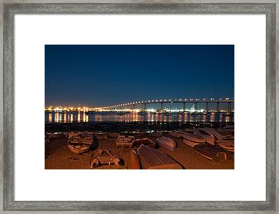 San Diego Bridge  Framed Print by Gandz Photography