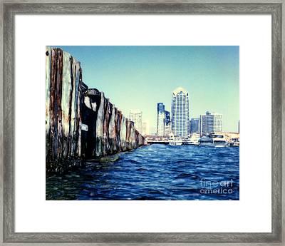 San Diego Broadway Pier Framed Print