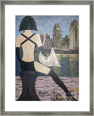Framed Print featuring the painting San Diego California by Jasna Gopic