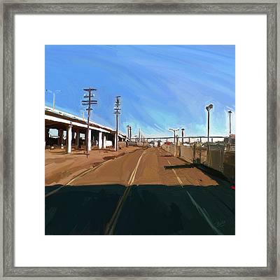 Framed Print featuring the painting San Diego California Usa by Nop Briex