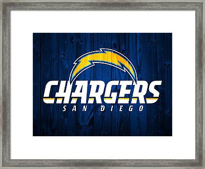 San Diego Chargers Barn Door Framed Print