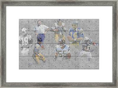 San Diego Chargers Legends Framed Print by Joe Hamilton