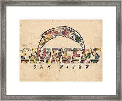 San Diego Chargers Poster Vintage Framed Print