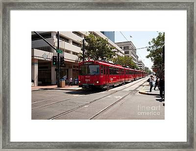 San Diego Coaster Framed Print by Russell Christie