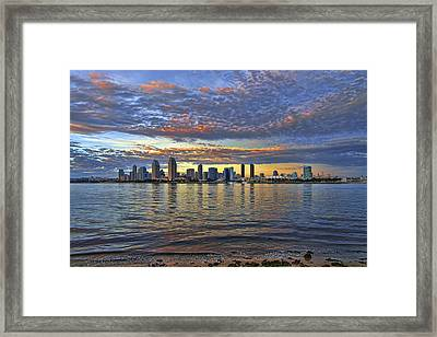 San Diego Colorful Clouds Framed Print