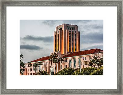 San Diego County Administration Center Framed Print by Photographic Art by Russel Ray Photos