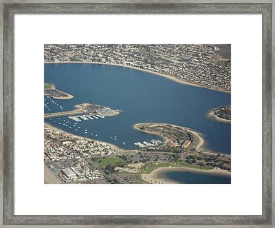 San Diego From Above Framed Print