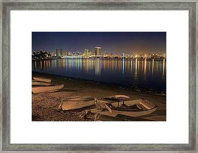 San Diego Harbor Lights Framed Print
