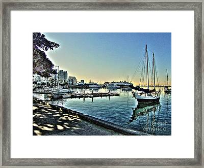 San Diego Harbor Framed Print