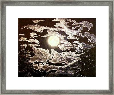 San Diego Moonlight Framed Print