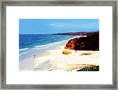 San Diego Morning Framed Print