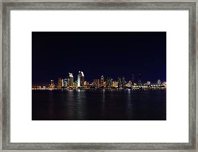 San Diego Night Lights Framed Print by Brook Burling