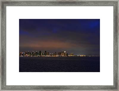 San Diego Night Sky Framed Print by Christine Till
