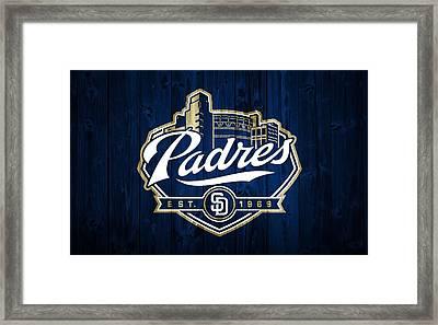San Diego Padres Barn Door Framed Print by Dan Sproul