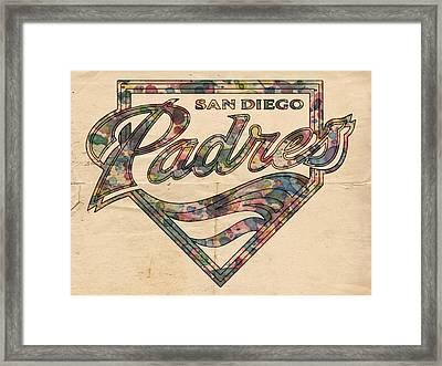 San Diego Padres Poster Vintage Framed Print