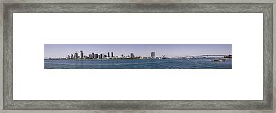 San Diego Panorama Framed Print by Photographic Art by Russel Ray Photos