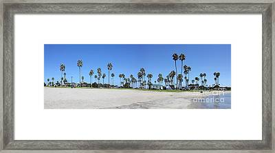 San Diego Panoramic Framed Print by Tony Cordoza