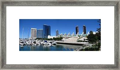 San Diego Panoramic View Framed Print by Bedros Awak