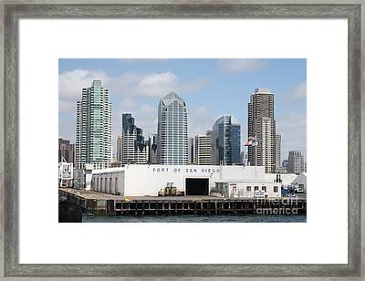 San Diego Port Framed Print