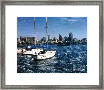 San Diego Sailboats Framed Print
