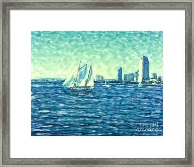 San Diego Schooner Framed Print